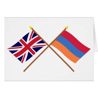 Großbritannien und Armenien gekreuzte Flaggen Karte