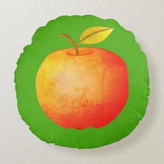 Große Apple-Cartoon-vibrierende Rundes Kissen