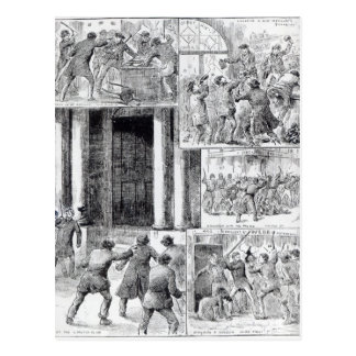 Große Aufstände in London Postkarten