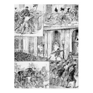 Große Aufstände in London Postkarte
