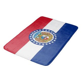 Große Badmatte mit Flagge von Missouri, USA Badematte