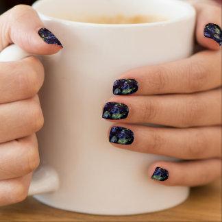 Große blaue minx nagelkunst