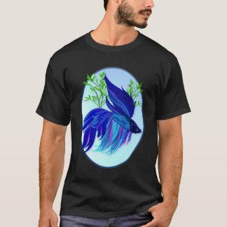 Große blaue siamesische kämpfende T-Shirt