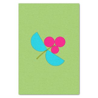 Große blaue und rosa Blume auf Grün Seidenpapier