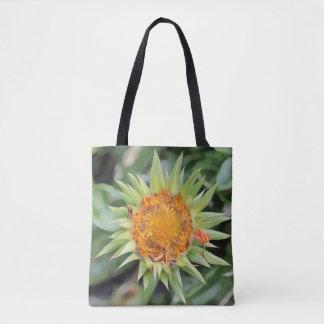 Große Blume ein La Van Gogh auf einer Tasche