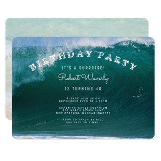 Große Brandungs-Überraschungs-Geburtstags-Party Karte