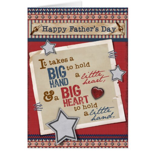 Große der Vatertags-Karte Herz-