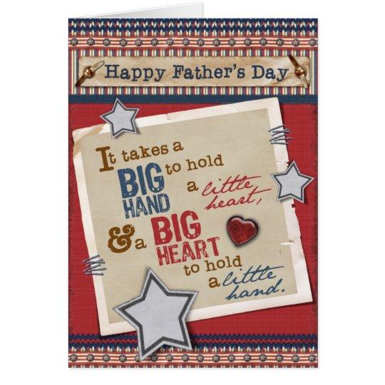 Große der Vatertags-Karte Herz- Grußkarte
