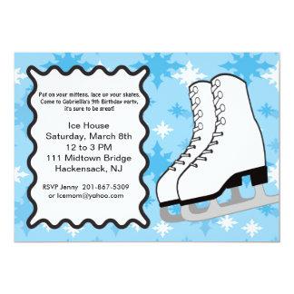 Große Eis-Skate Geburtstags-Party Einladung