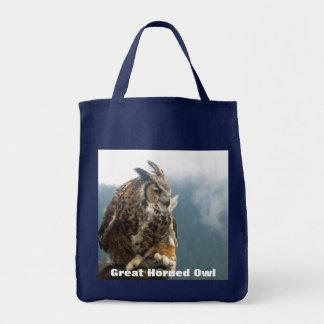 Große gehörnte Eulen-Taschen-Tasche Tragetasche