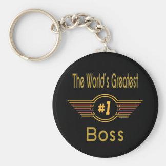 Große Geschenke für Chef Standard Runder Schlüsselanhänger