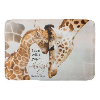 Große Giraffenbadmatte Badematte