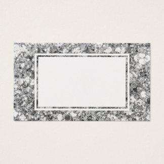 Große Glitter-Schein-Silber-Raum-Geschäfts-Karten Visitenkarte