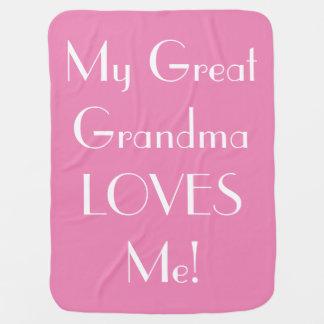 Große Großmutter-Lieben ich Baby-Decke - Rosa Puckdecke