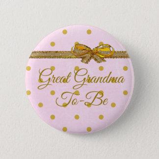 Große Großmutter, zum Babyparty-Rosa u. Goldknopf Runder Button 5,7 Cm