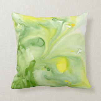 Große Grüntöneabstraktes Watercolorthrow-Kissen Kissen