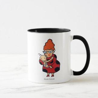 Große hallo-Umarmungen von Tante im Rot Tasse