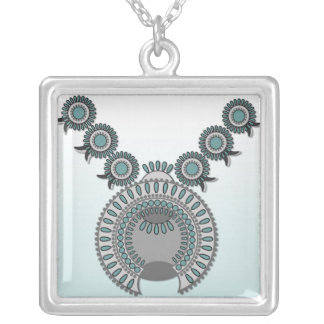 Große Halskette KÜRBIS-BLÜTE