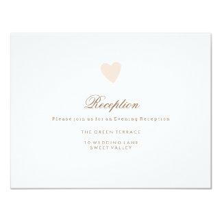 Große Herz-Hochzeits-Empfangs-Karte 10,8 X 14 Cm Einladungskarte