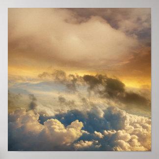 Große Höhe-Sonnenuntergang Poster