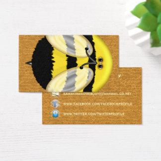 Große Hummel-Bienen-Sozialvernetzungs-Profil Visitenkarte
