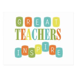 Große Lehrer inspirieren Postkarte