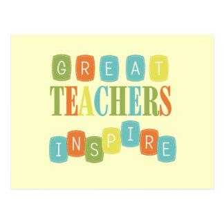 Große Lehrer inspirieren Postkarten