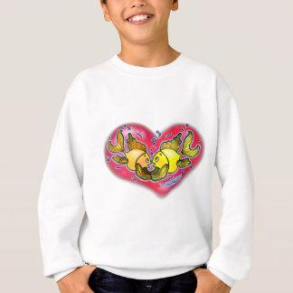 Große Liebe-Fische im roten Herzen Sweatshirt