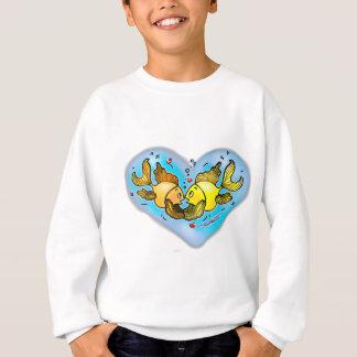 Große Liebe-Fische Sweatshirt