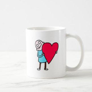 Große Liebe, kahler hässlicher Mann Tasse