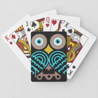 Große mit Augen Eulen-kundenspezifische Spielkarten