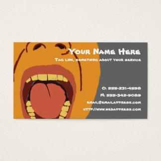 Große Mund-Visitenkarte Visitenkarte