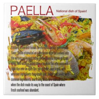 Große Paella-Keramik-Fliese! Fliese