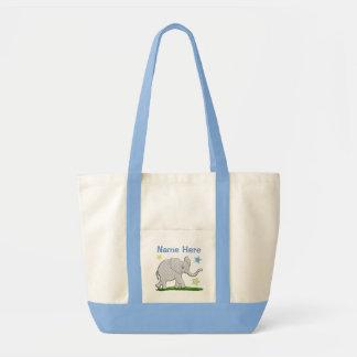 Große personalisierte Leinwand-Tasche mit Impulse Stoffbeutel