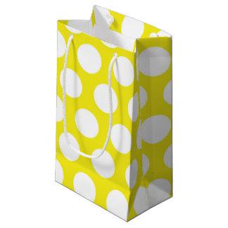 Große Punkte auf gelbem Entwurf Kleine Geschenktüte