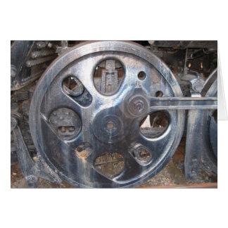 Große Räder behalten auf Turnin Eisenbahn-Zug-Rad Karte
