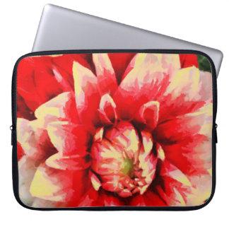 Große rote Blume Laptop Sleeve