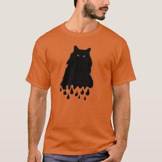 Große schmelzende schwarze Katze T-Shirt