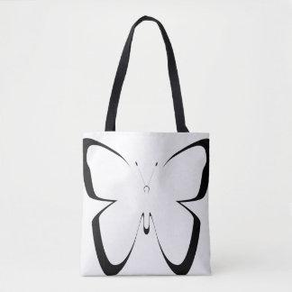 große Schwarz-weiße Schmetterlingstasche Tasche