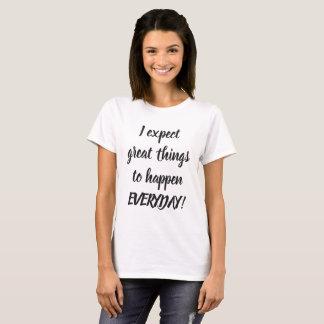 Große Schwarzweiss-Zitate T-Shirt