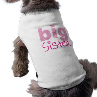 Große Schwester Ärmelfreies Hunde-Shirt