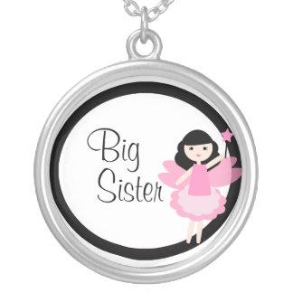 Große Schwester-Prinzessin Fairy Necklace Halskette Mit Rundem Anhänger