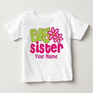 Große Schwester-Rosa-Grün-personalisiertes T-Shirt