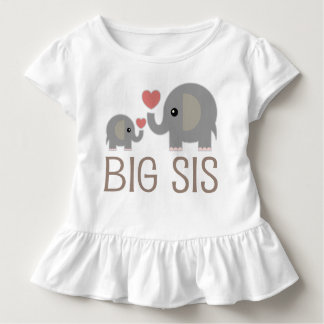 Große SIS-Mädchen-niedlicher Elefant-Rüsche-T - Kleinkind T-shirt