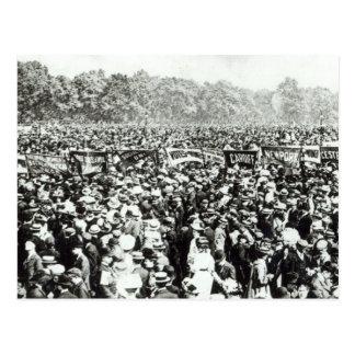 Große Stimmen für Frauendemonstration in Hyde Postkarte