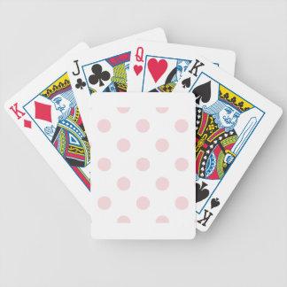 Große Tupfen - erblassen Sie - Rosa auf Weiß Bicycle Spielkarten