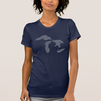 Große Weißwellen T-Shirt
