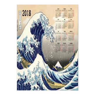 Große Welle weg von der Magnetkarte Kalenders Magnetische Karte