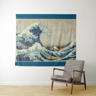 Große Welle weg von Kanagawa durch Hokusai Wandteppich