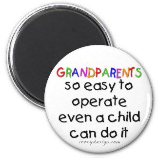 Großeltern-Liebe Runder Magnet 5,7 Cm